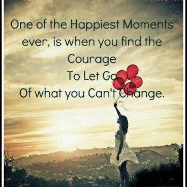 courage to let go