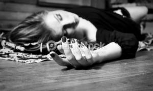 lying on floor